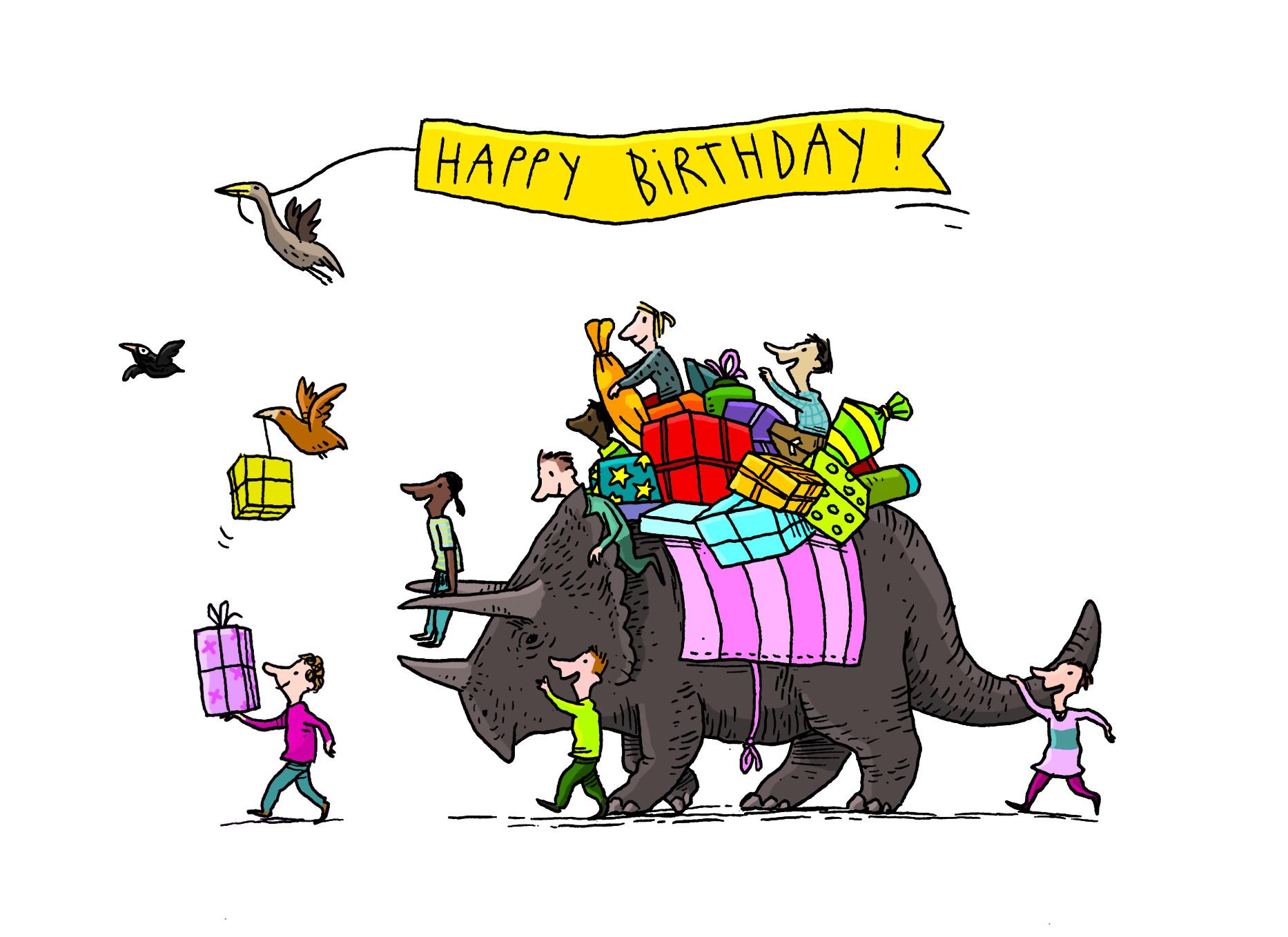 Geburtstagskarte Triceratops_klein