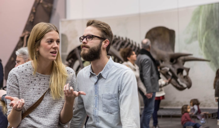 Pärchen vor Triceratops