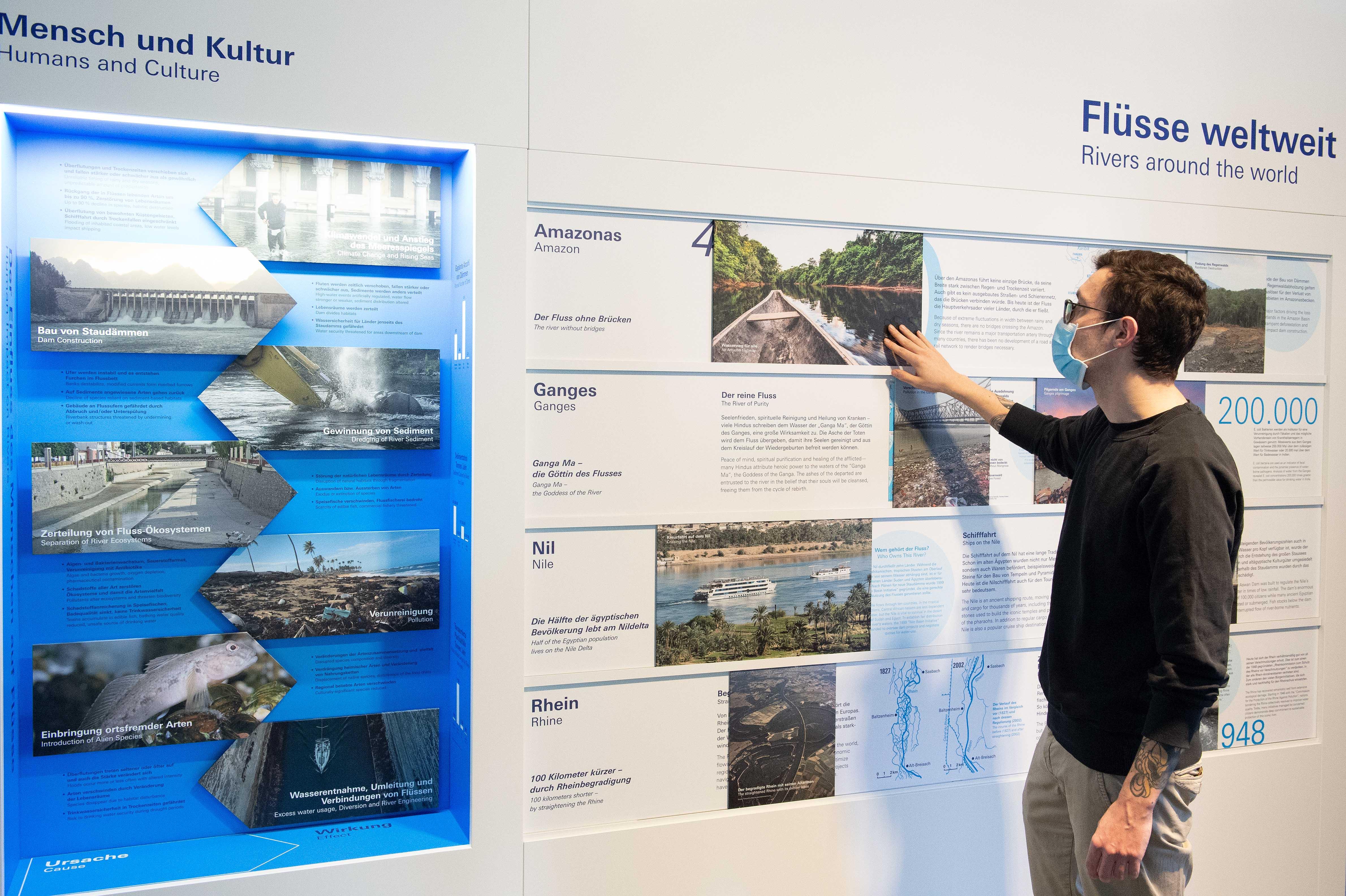 Ausstellung Flüsse 5 Flüsse weltweit C Senckenberg Tränkner
